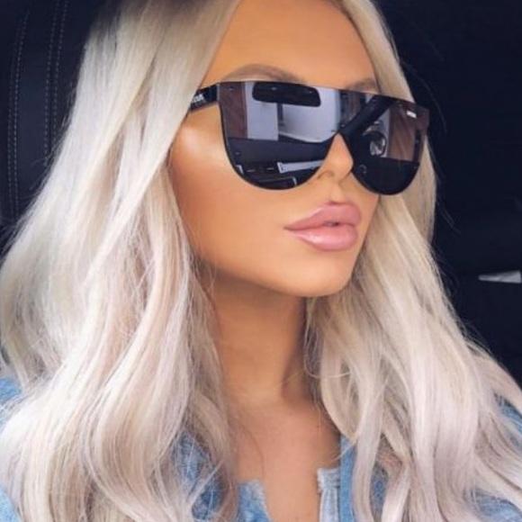 a6f6196cc4c Black studded veux eyewear flat top sunglasses